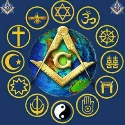 G e simbolos religiao colorido